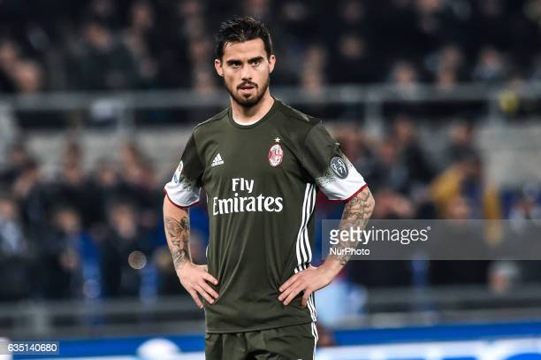 Suso of AC Milan during the Serie A match between Lazio and Milan at Stadio Olimpico Rome Italy on 13 February 2017