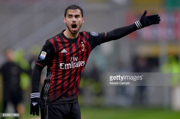 Suso of AC Milan gestures during the Serie A football match between AC Milan and UC Sampdoria UC Sampdoria wins 10 over AC Milan