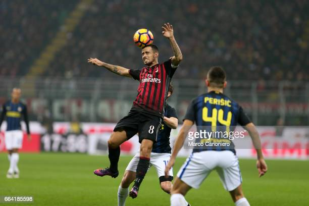 Suso of Ac Milan in action during the Serie A football match between AC Milan and FC Internazionale Final result is 22