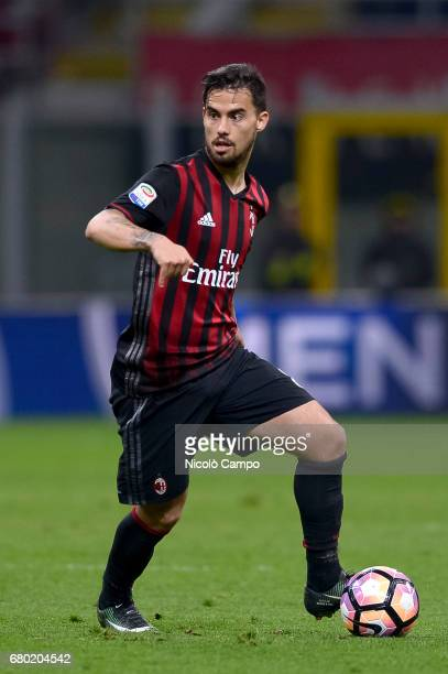 Suso of AC Milan in action during the Serie A football match between AC Milan and AS Roma AS Roma wins 41 over AC Milan