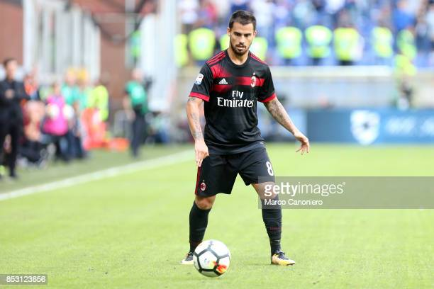 Suso of Ac Milan in action during the Serie A football match between Uc Sampdoria and Ac Milan Uc Sampdoria wins 20 over Ac Milan