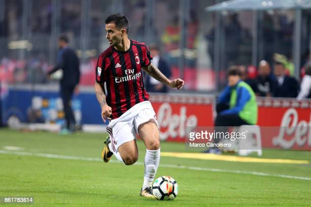 Suso of Ac Milan in action during the Serie A football match between FC Internazionale and AC Milan Fc Internazionale wins 32 over Ac Milan