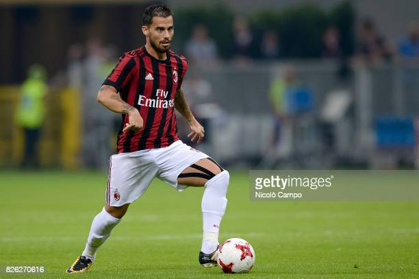 Suso of AC Milan in action during the UEFA Europa League qualifier football match between AC Milan and CSU Craiova AC Milan wins 20 over CSU Craiova