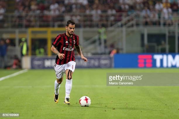 Suso of Ac Milan in action during the UEFA Europa League Third Qualifying Round Second Leg match between AC Milan and CSU Craiova AC Milan won 20 on...