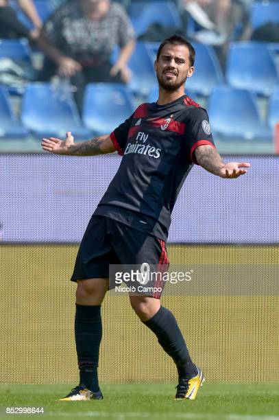 Suso of AC Milan is disappointed after missing a chance during the Serie A football match between AC Milan and UC Sampdoria UC Sampdoria wins 20 over...