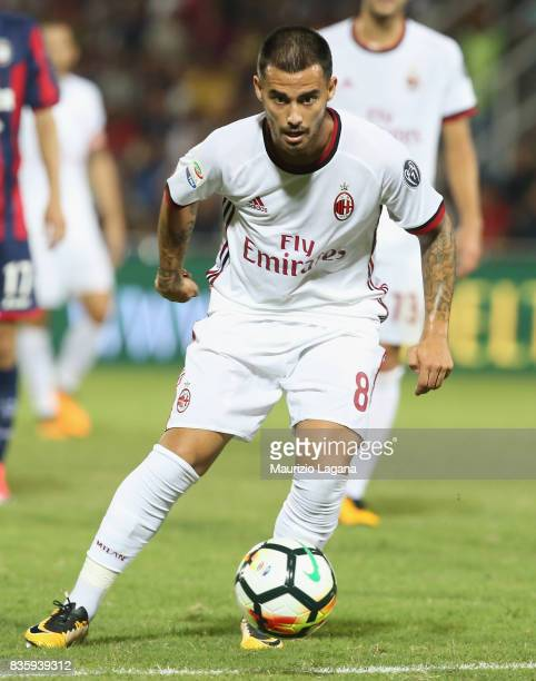 Suso of Milan during the Serie A match between FC Crotone and AC Milan on August 20 2017 in Crotone Italy