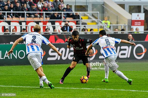 Suso of Milan in actions during Serie A Football Milan win over Pescara 10
