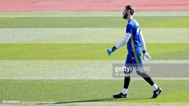 Suso of Spain looks on during a training session on August 30 2017 in Madrid Spain