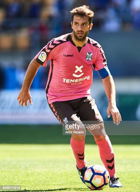 Suso Santana of CD Tenerife in action during La Liga Segunda Division between Cadiz CF and CD Tenerife at Estacio Ramon de Carranza on March 26 2017...