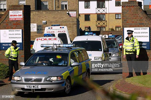 Suspect Maxine Carr is taken in a police van from the police station to the Peterborough magistrates court some 90 miles north of London 21 August...