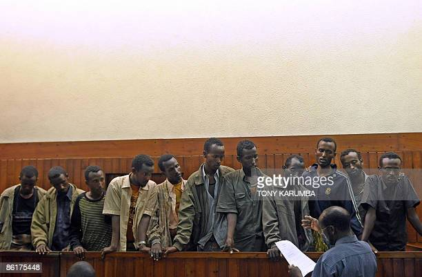 Suspected Somali pirates appear at Mombasa's court April 23 a day after they were handed over by the French navy to Kenyan authorities 11 suspected...