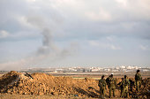 A suspected tunnel is detonated on August 3 2014 near the border with Gaza Israel As Operation Protective Edge enters its 27th day a large amount of...
