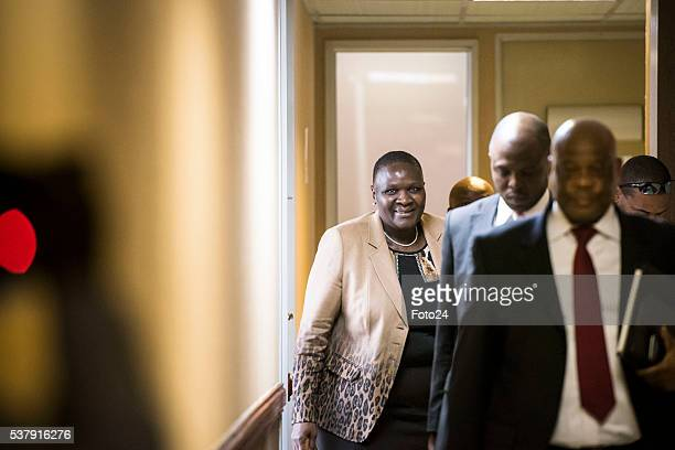 Suspended National Police Commissioner Riah Phiyega and her legal team during the Claassen Commission of Inquiry on June 01 2016 in Pretoria South...