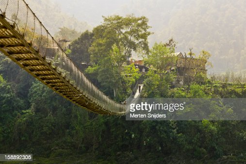 Suspension bridge at Bandare Village