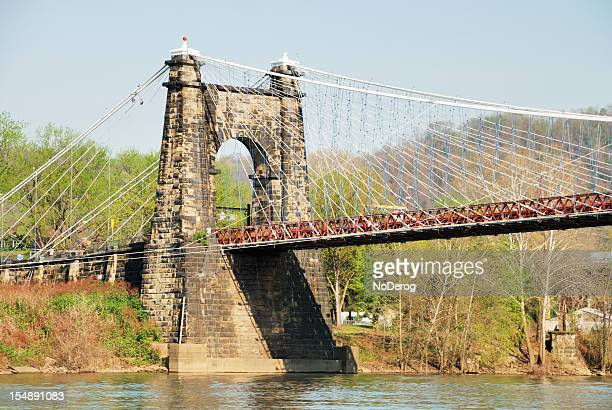 Suspension bridge on Ohio River