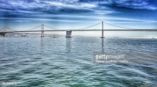 Suspension Bridge Over Sea
