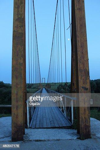 Ponte Suspensa : Foto de stock