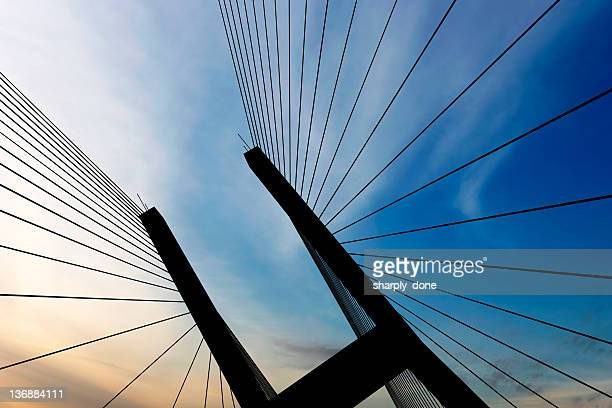 XXL suspension bridge silhouette