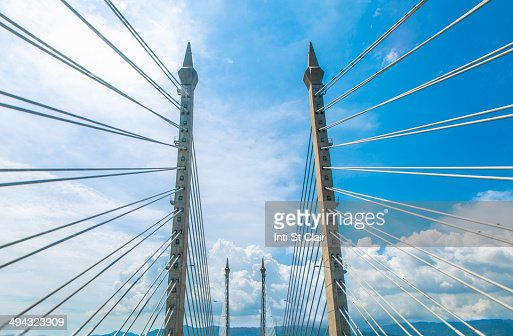 Suspension cables of Penang bridge, George Town, Penang, Malaysia