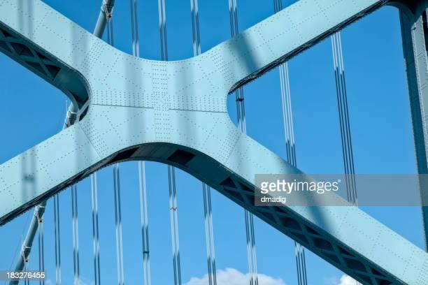 Suspension Detail of West Tower of Philadelphia's Benjamin Franklin Bridge