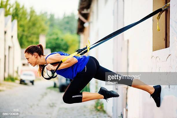 Suspension training outdoors