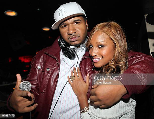 Suss One and Olivia attend Dj Whoo Kid's birthday celebration at Pink Elephant on October 18 2009 in New York City
