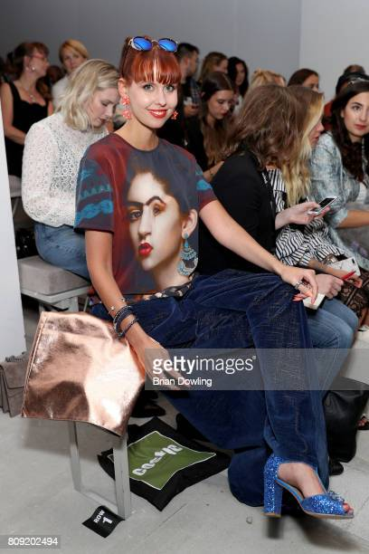 Sussan Zeck attends the Rebekka Ruetz show during the MercedesBenz Fashion Week Berlin Spring/Summer 2018 at Kaufhaus Jandorf on July 5 2017 in...