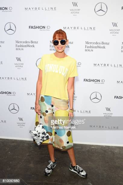 Sussan Zeck attends the Vladimir Karaleev show during the MercedesBenz Fashion Week Berlin Spring/Summer 2018 at Kaufhaus Jandorf on July 7 2017 in...