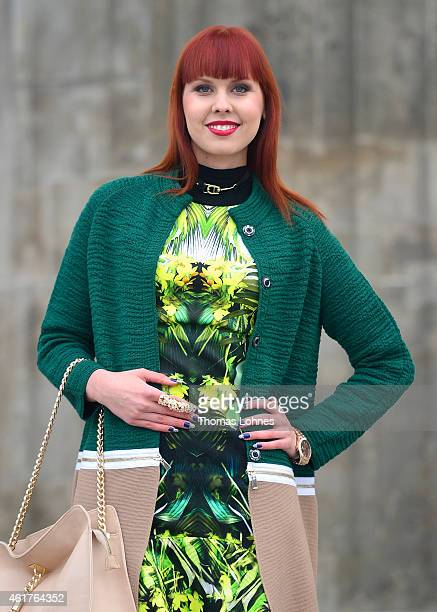 Sussan Zeck of the MercedesBenz Fashion Week Berlin Autumn/Winter 2015/16 at Brandenburg Gate on January 19 2015 in Berlin Germany