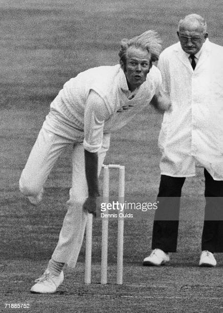 Sussex and England cricket captain Tony Greig in action for Sussex against Australia at Hove 16th July 1975