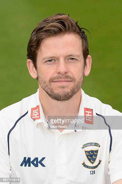 Sussex captain Ed Joyce poses for a portrait during a Sussex CCC photocall at the County Ground on March 31 2014 in Hove England
