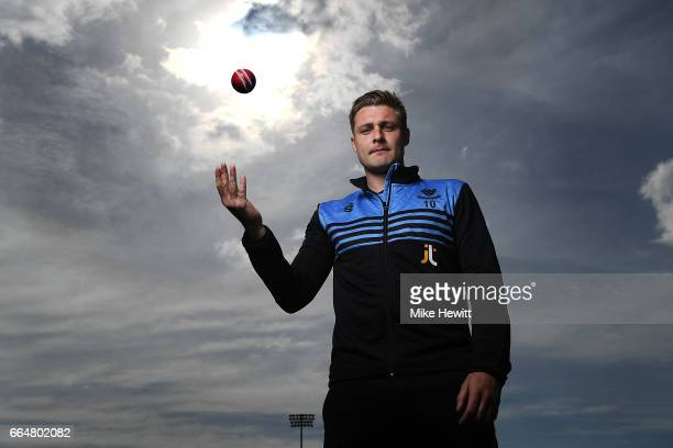 Sussex captain Luke Wright poses for a portrait during a Sussex CCC Photocall at The 1st Central County Ground on April 5 2017 in Hove England