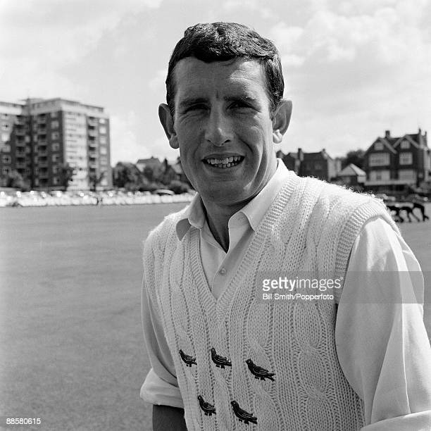 Sussex cricketer John Snow at the County Ground in Hove circa 1970