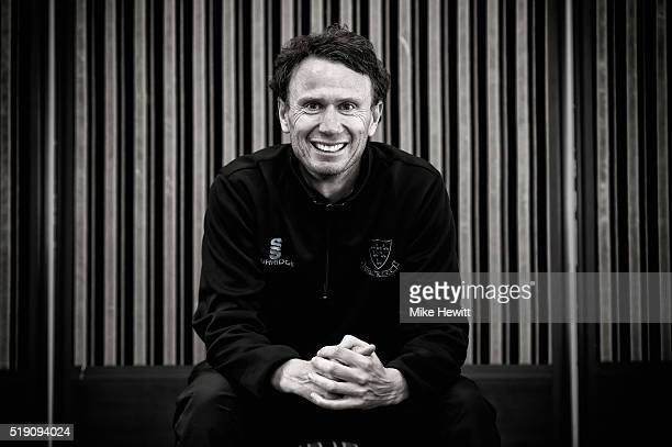 Sussex head coach Mark Davis poses for a portrait during the Sussex Media Day at the County Ground on April 4 2016 in Hove England