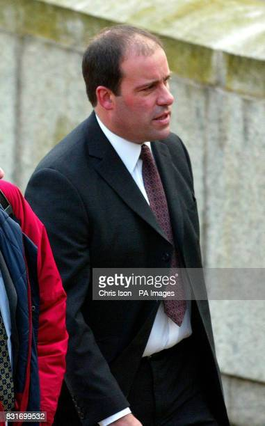 Sussex Police officer Nicholas AndrewsFaulkner arrives at Winchester Crown Court Monday 3rd April where he is on trial for causing death by dangerous...