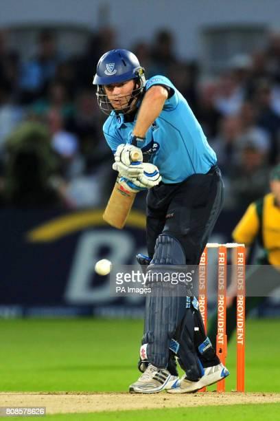 Sussex Sharks' Chris Nash in batting action