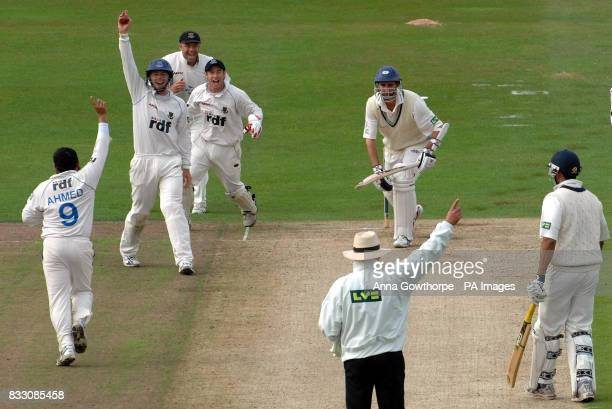 Sussex's Chris Nash celebrates catching Yorkshire's Jason Gillespie from the bowling of Mushtaq Ahmed during the Liverpool Victoria County...