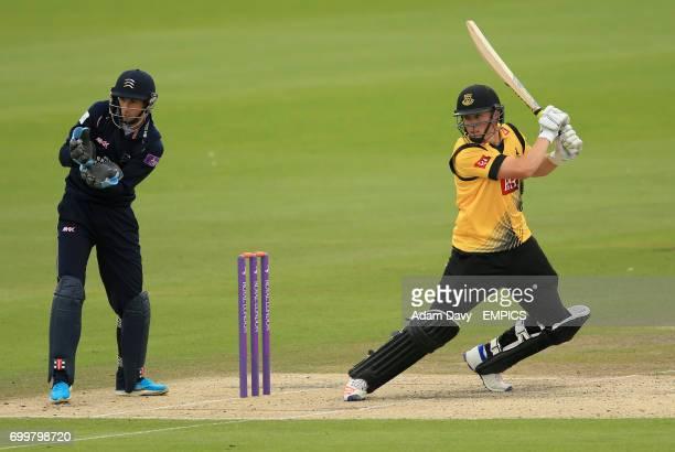 Sussex's Philip Salt during in batting action