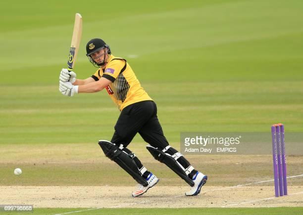 Sussex's Philip Salt in batting action