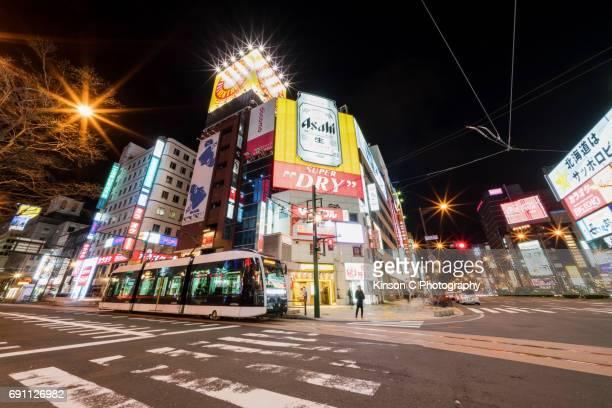Susukino District, Hokkaido, Japan At Night