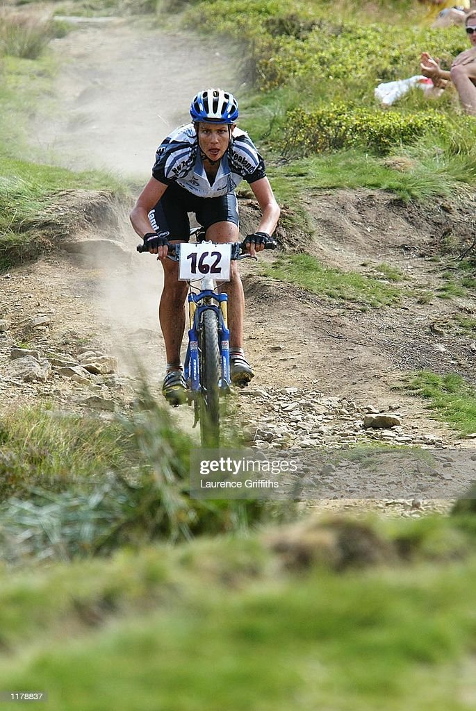 Susy Pryde of New Zealand during the Womens Mountain Bike Cross Country race in Rivington, Manchester on JULY