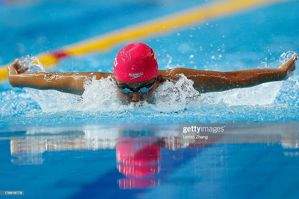 Sutasinee Pankaew of Thailand in action during the Girl's 200m Butterfly Final during day three of the 2nd Asian Youth Games on August 19, 2013 in Nanjing, China.