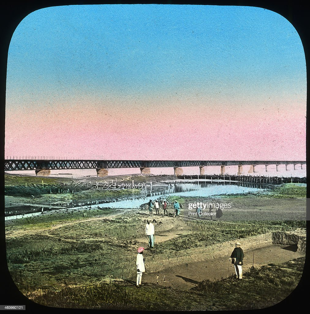 Sutlej Bridge India late 19th or early 20th century Lantern slide