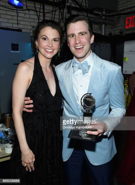 Sutton Foster and Gavin Creel attend the 2017 Tony Awards at Radio City Music Hall on June 11 2017 in New York City