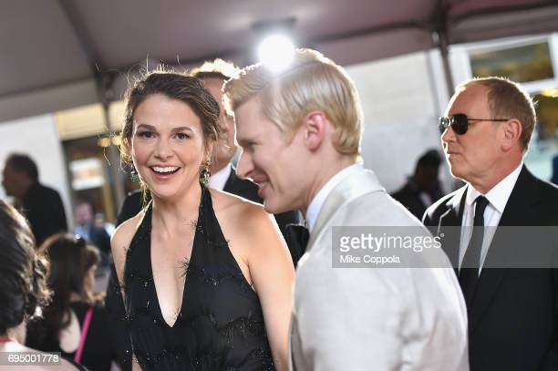 Sutton Foster and Lucas Steele attends the 2017 Tony Awards at Radio City Music Hall on June 11 2017 in New York City
