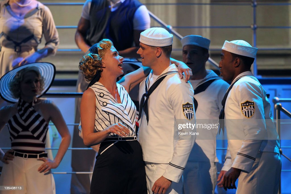 Sutton Foster and the cast of 'Anything Goes' perform on stage during the 65th Annual Tony Awards at the Beacon Theatre on June 12, 2011 in New York City.