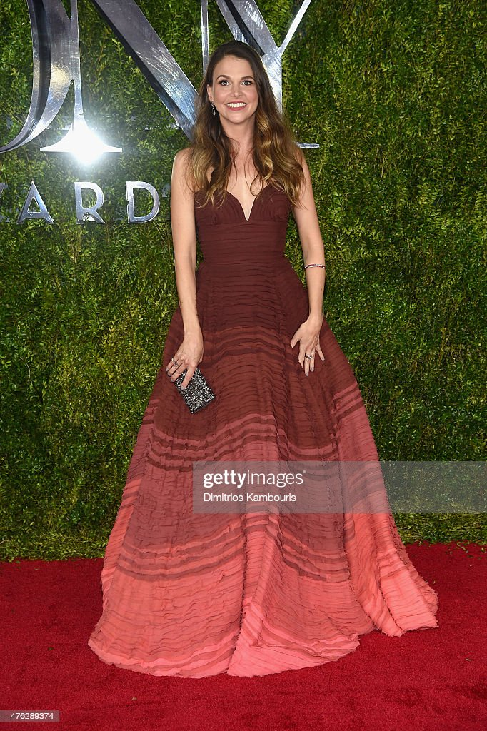 Sutton Foster attends the 2015 Tony Awards at Radio City Music Hall on June 7 2015 in New York City