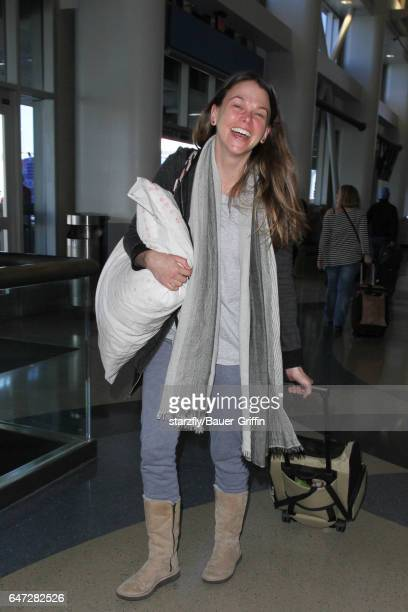 Sutton Foster is seen at LAX on March 02 2017 in Los Angeles California