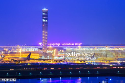 Suvarnabhumi Airport Bangkok Stock Photo Getty Images