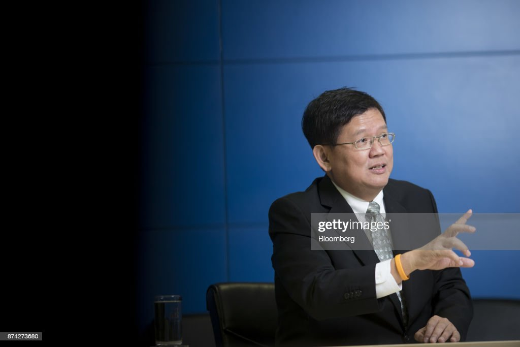 Suvit Maesincee, Thailand's vice minister of the prime minister and an adviser to the minister of finance, speaks during an interview in Bangkok, Thailand, on Friday, Nov. 10, 2017. Suvit said Thailand remains on course for elections next year and that curbs on political parties will soon be eased, as pressure mounts on the military government to roll back restrictions on campaigning. Photographer: Brent Lewin/Bloomberg via Getty Images